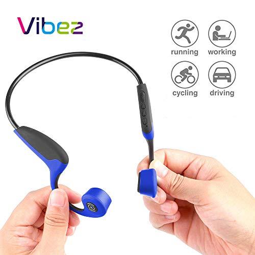 Vibez Open-Ear Wireless Bone Conduction Headphones | Wireless Bluetooth 5.0 Connectivity | Sweat Resistant...