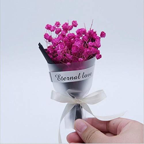 Roovtap 1 Bündel Lippenstift Mini Getrocknete Blumen Event Geschenk Sternenhimmel Blumenstrauß Shooting Props Hochzeit Dekoration Dried Flower (Color : 4)