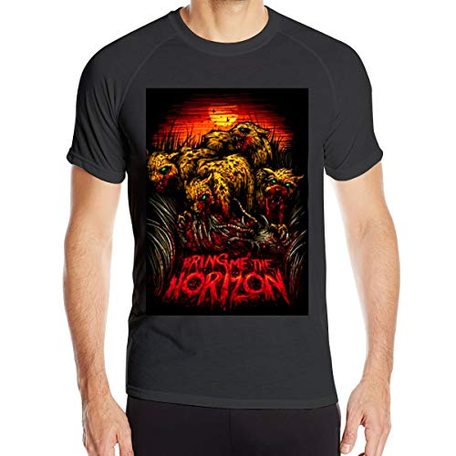 Jianyao Man's Sunshine Short Sleeve Bring Me The Horizon - Cheetah T-Shirts Outdoor Sports Quick-Drying Clothes