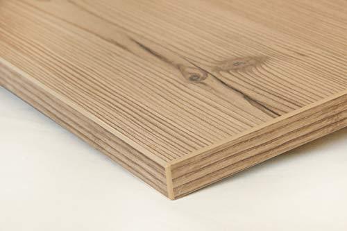 Schreibtischplatte 150x80 aus Holz DIY Schreibtisch direkt vom Hersteller vielseitig einsetzbar - Tischplatte Arbeitsplatte Werkbankplatte mit 125kg Belastbarkeit & Kratzfestigkeit - Kiefer rustikal