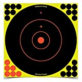SHOOT-N-C 12 Inch Bullseye Targets - 50 Count Pack With 1,200 Pasters
