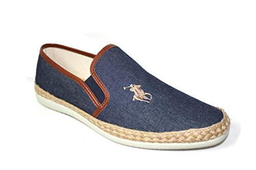 Zapatillas de Lona Caballero cómoda Esparto Elegante Estilo Polo Juvenil (Numeric_46)