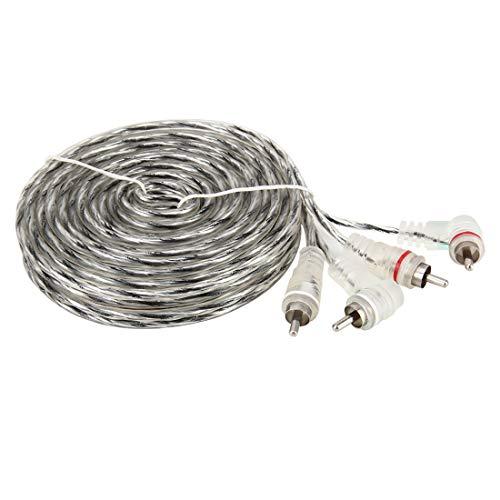 GUOLIANG Auto Selbstbau Kabel 4.5m PVC + verzinnt Kupferdraht OFC 2RCA Stecker auf 2RCA Male Vergolden Car Audio Video AV-Kabel.für Sound Mixer Verstärker/DVD/Mikrofon