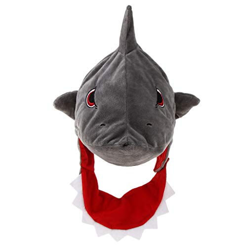 Baoblaze Erwachsene Kinder Tiermütze Hai Mütze Hut Plüschmütze Haihut Kopfbedeckung Karneval Fasching Kostüm