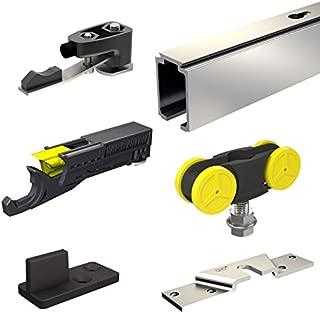 SLID'UP 1000 - Sliding/Pocket Door Hardware kit - 76-inch Track for 1 Door up to 176lbs - Soft Stopper Included