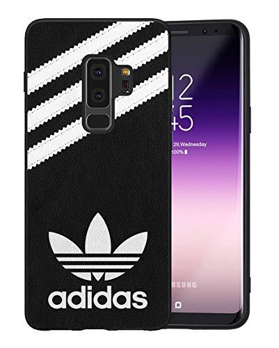 Adi Logo Samsung Galaxy S9 Plus Funda, Carcasa Silicona Protector Anti-Choque Ultra-Delgado Anti-arañazos Case Caso para Teléfono Samsung Galaxy S9 Plus, Negro