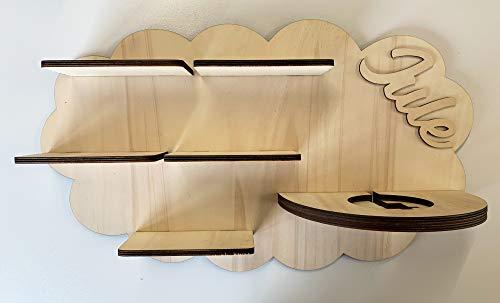 DIY Regal für die Musikbox passend für Toniebox Kinder Baby Zimmer zum selbst bemalen mit Wunschname tolles individuelles Geschenk Geburtstag