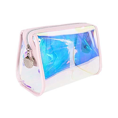 Holographische Schillernden Make-up Tasche, Hologramm Kosmetiktaschen Kulturbeutel Handliche Make-up Tasche, Wristlets Organizer Frauen Clutch Abendtasche
