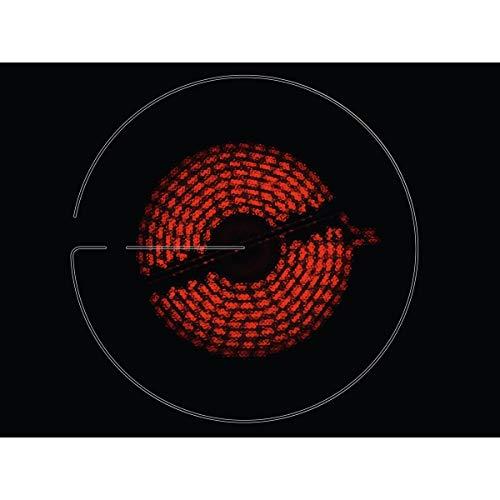 Zanussi ZHRN639K Placa vitrocerámica, 3 zonas de cocción, Avisador acústico, Bloqueo de seguridad, Indicador de calor residual, Control tactil, Sin Marco, Negro, 60 cm