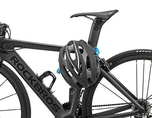 ULAC自転車ロック鍵ワイヤーロックロードバイクベビーカーバイクサドルロック軽量携帯便利盗難防止(黒)