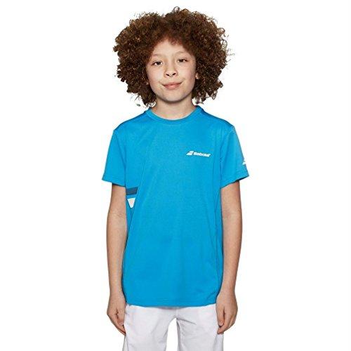 Babolat Flag Club Junior - Camiseta de tenis, color amarillo, tamaño medium 6-8 años
