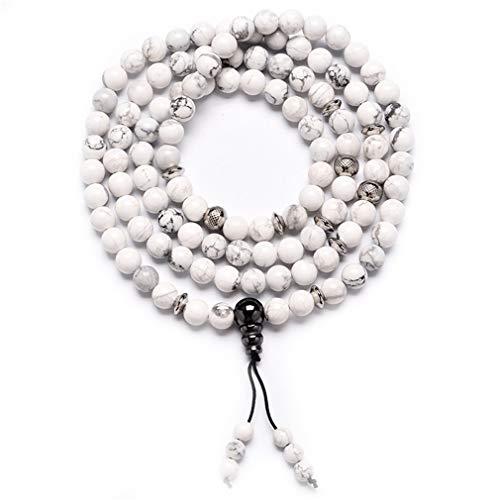 YAZILIND 108 Gebetskette Mala Bracelets Necklace Tibetan Buddhist Buddha Meditation Necklaces # 5