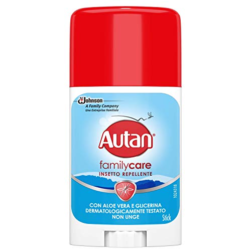 AUTAN Family Care - Barra Repelente de Mosquitos de Acción Inmediata con Icaridina y Aloe Vera, Pack of 1 x 50 ml,