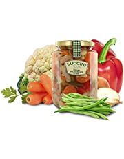 Luccini Verduras en escabeche agridulce, 760 gr - conservas y encurtidos Mostarde