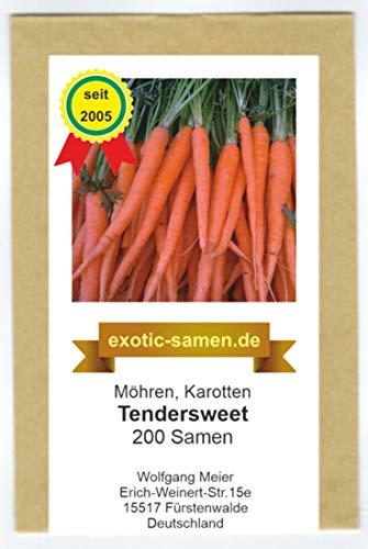 Möhre – Karotte - sehr süß – Früh- und Haupternte - Tendersweet - 200 Samen
