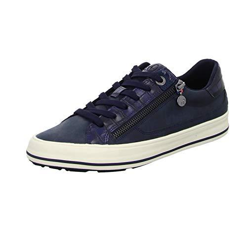 s.Oliver Damen Da-Schnürer Sneaker, Blau, 39 EU