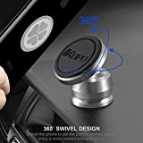 IKOPO Magnetic Phone Car Mount – Strong Magnet Cell Phone Holder for Car Dashboard with Strongest VHB Adhesive(Silver)