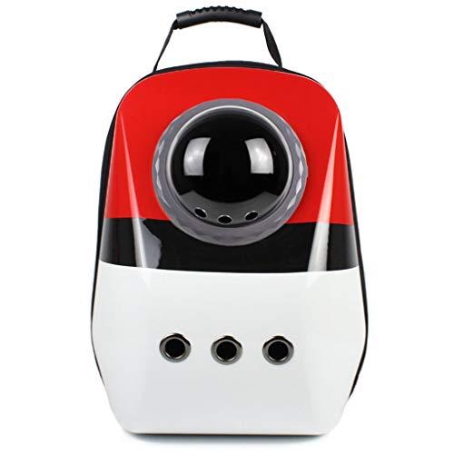 Tragbare Katze Träger Welpen Rucksack Reisetasche, Hitzebeständige PC Kunststoffschale, Raumkapselblase, Brust Schnalle Design, mehrere Stile verfügbar (Farbe : F)
