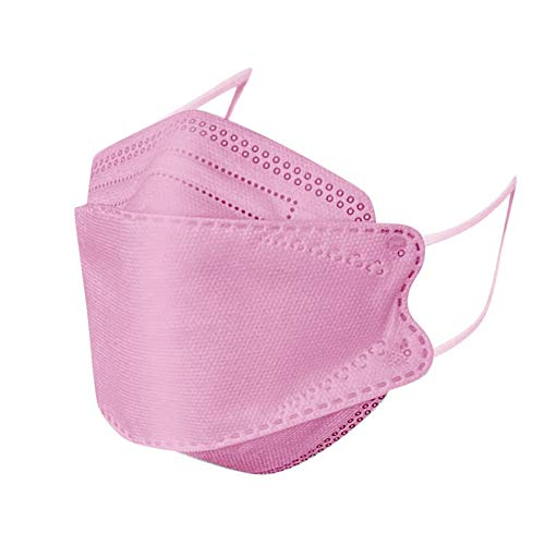 50Pcs Disposаble Pink Face Mẵsk FDẴ Certified Coronàvịrụs Protectịon for Adult's, 4-Ply Filtеr Face_mask_KF94