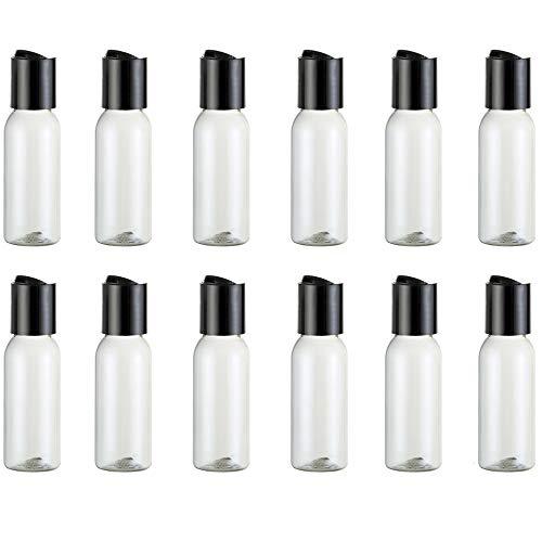 Hnmedia Lot de 12 flacons de voyage en plastique transparent 30 ml