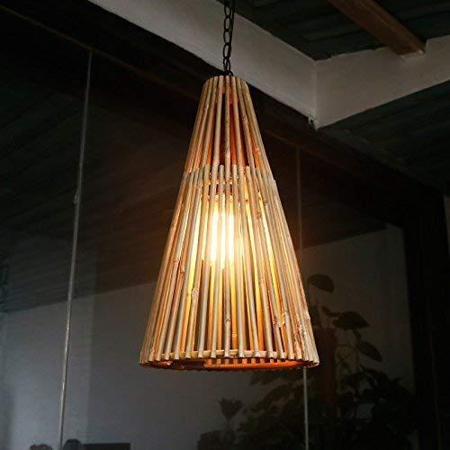 Dightyoho Iluminación Colgante Candelabro Aplique de Pared de bambú Natural del sudeste asiático/Café Bar/Granja/Apliques de Pared de Patio/Lámparas de bambú (Color:Original) (Color : Original)