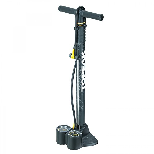 Topeak Unisex– Erwachsene JoeBlow Dualie Fahrradpumpe, Schwarz, 69 x 23 x 17 cm