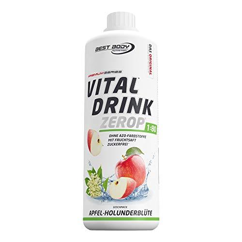 Best Body Nutrition Vital Drink Apfel-Holunderblüte, zuckerfreies Getränkekonzentrat, 1:80 ergibt 80 Liter Fertiggetränk, 1000 ml