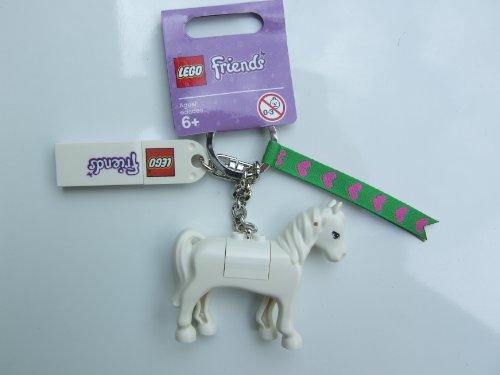 LEGO Friends 850789 Anhänger Pferd, Schimmel / Pferdeanhänger für Tasche oder Rucksack