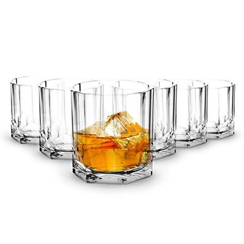RB Irrompible Vasos de Whisky Policarbonato Plástico Premium 37cl, Conjunto de 6