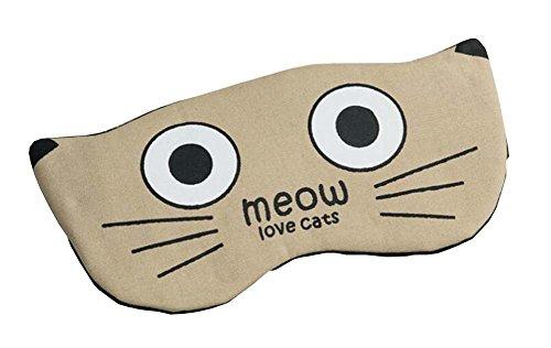 Lovely Cat Couleur Khaki Eye Sleep Mask
