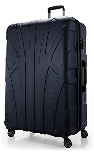 Suitline - Valigia Trolley rigido grande ABS TSA 4 ruote, 85 cm, 160 litres, Blu scuro