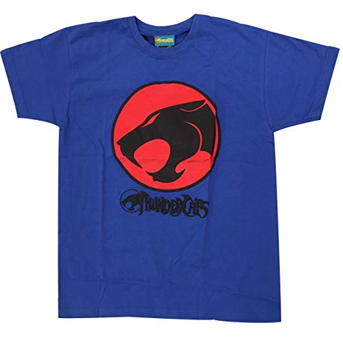 Kids and Teens Blue Thindercats Logo T-shirt, Ages from 9 to 15 Years