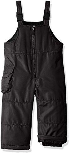 London Fog Girls' Toddler Classic Bib Pant with Zipper, Black, 3T