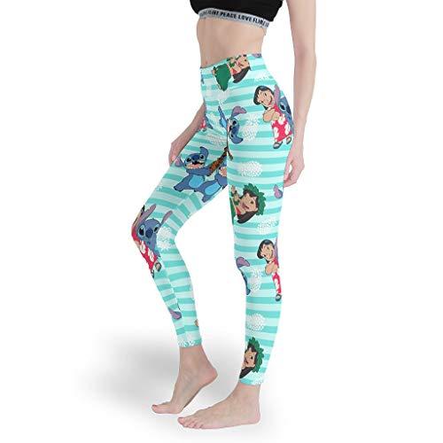 Schöne StitchyDamen Caprihose Leggings Nahtlos Yoga Hosen Mode für Frauen Capris Tights für WorkoutLilo & White xs