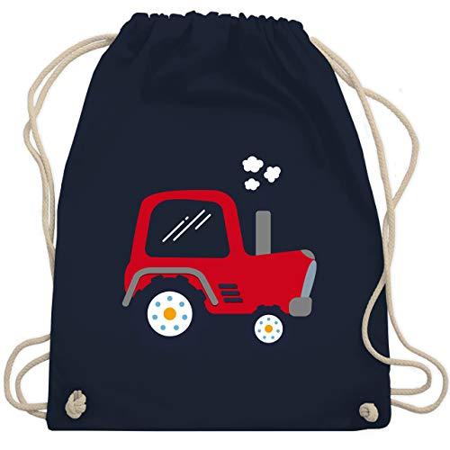 Shirtracer Fahrzeuge Kind - Kinder Traktor - Unisize - Navy Blau - kindergarten tasche für jungen - WM110 - Turnbeutel und Stoffbeutel aus Baumwolle