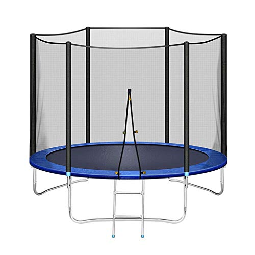 Large Children'S Outdoor Trampoline, 8Ft Safe Fitness Trampoline with Guard Net, Suitable for Adult And Child Sports, U-Shaped Leg Reinforced Garden Trampoline, Maximum Weight: 200 KG
