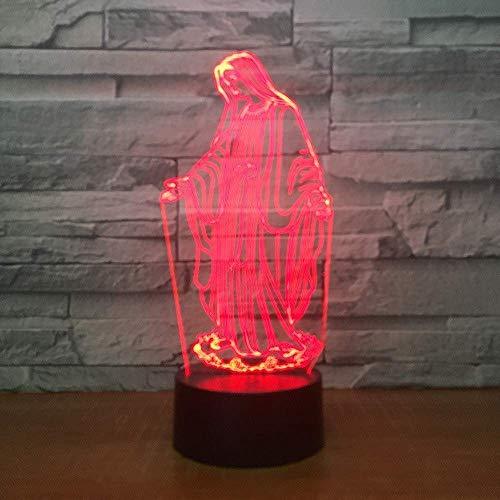 3D Illusion Nachtlicht 7 Farbe Led Vision Multifunktionsbett Dekorative Kinderzimmer Buntes kreatives Geschenk Fernbedienung