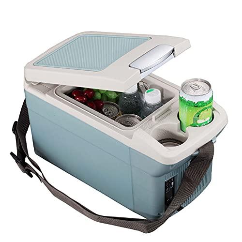 ZQGRefrigerador Mini Fridge 6 litro / 8 Can Skincare Fridge Fridge para Dormitorio - con Panel de Control de Temperatura actualizado - AC / 12V DC, para Camionero Camping Picnic, etc. (Color : Blue)