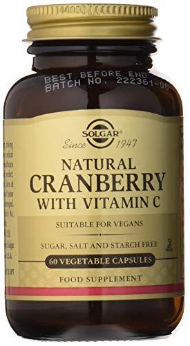 Solgar Arándano Rojo con Vitamina C para el tracto genitourinario y como antioxidante - 60 cápsulas Vegetales