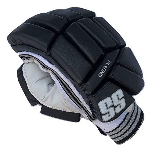 SS Cricket Platino Batting Gloves' Men's (Right Handed), Black Edition