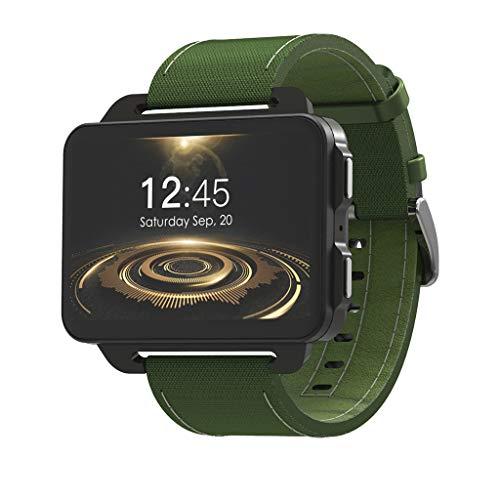 Reloj Inteligente, Lemfo Lem4 Pro 2.2 Pulgadas Reloj Inteligente Con Pantalla Grande 3G Con 1Gb 16Gb 1200Mh Soporte Para BateríA Wifi Tarjeta Nano Sim 130W Mp4 CáMara(Verde)