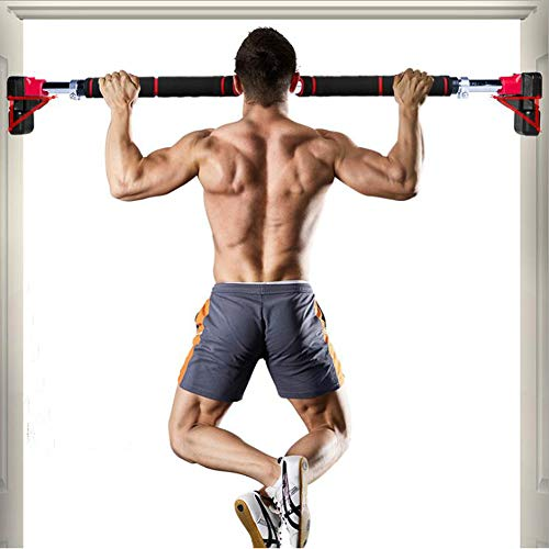 Find Discount Pull Up Bar Chin up Bar Doorway Exercise Bar Upper Body Workout Bar Heavy Duty Home Fi...