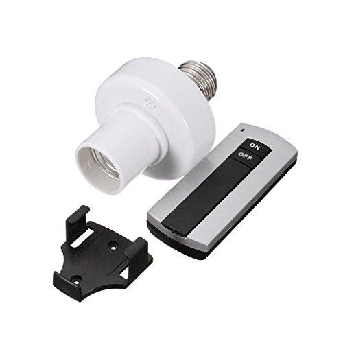 gazechimp Interruptor de Control Remoto Inalámbrico con Enchufe de Lámpara de Luz con Soporte de Base de Tornillo E27