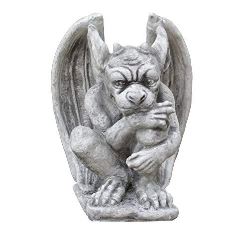 gartendekoparadies.de Massive Steinfigur Gargoyle Torwächter aus Steinguss frostfest