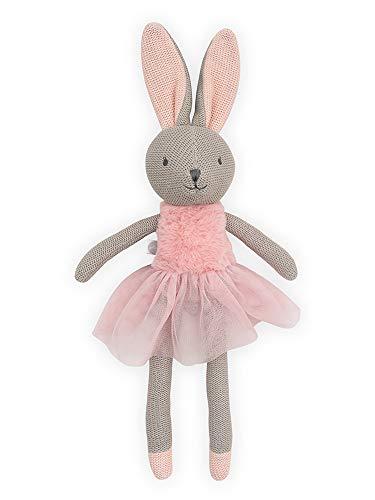 Jollein 037-001-65365 Stofftier Kuscheltier Hase Kaninchen Mädchen NOLA rosa 50 cm
