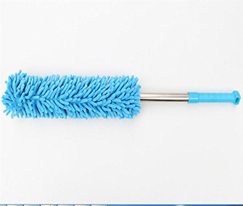 Brosse de cire de voiture fournitures de nettoyage non-rétractable en acier inoxydable microfibre brosse de remorque de cire longueur totale 50cm , 5