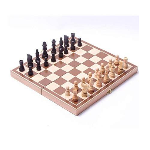 COTEN Ajedrez Internacional Plegable de Madera Tablero de ajedrez del Recorrido fijados Juegos de Ajedrez Entretenimiento Juego de Mesa de Regalo de los Juguetes