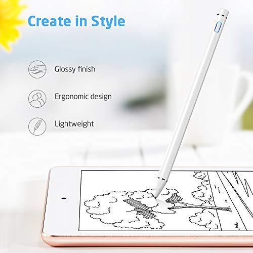 ESR Digitaler Stylus Pen Kompatibel mit iPad, iPhone, Smartphones & Tablets [Ohne Pairing] Aufladbarer Eingabestift mit 1,4mm Ultrafeiner Spitze+Schutzkappe, Hochempfindlich Geeignet für Touchscreens