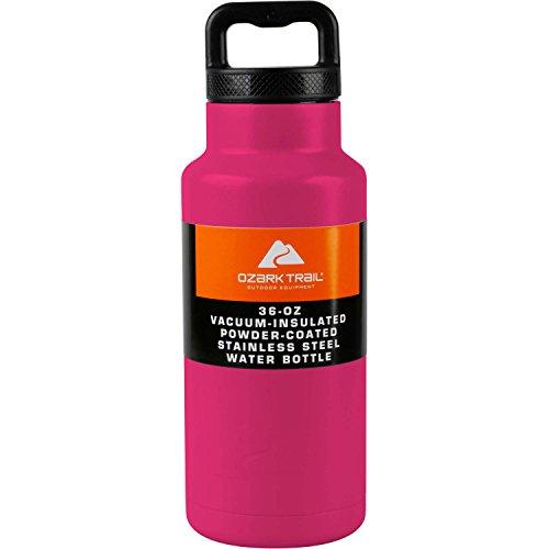 Ozark Trail Double Wall Stainless Steel Water Bottle (36 oz) (Raspberry)