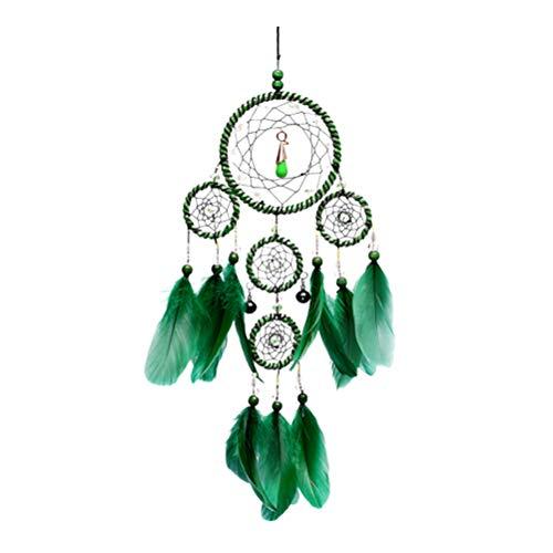 ABOOFAN Atrapasueños hechos a mano de moda atrapasueños colgante material artesanía adornos regalo decoración colgante (verde) suministros de graduación